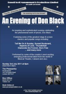 An Evening of Don Black - 3rd July 2011